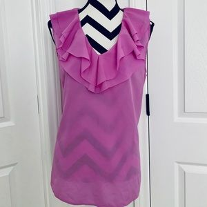 Ruffled Lilac Blouse